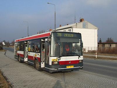 Autobus Škoda 21Ab v Plzni - Černicích