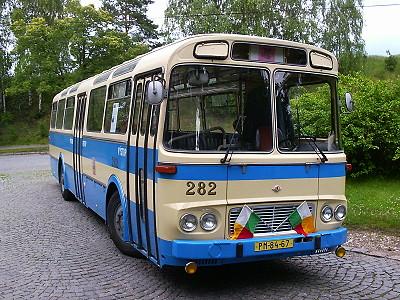 Autobus ŠL 11 v Plzni - Bukovci při oslavách 110 let MHD