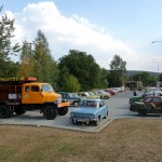 Škoda-bus klub na retrojízdě reprezentovala posádka s vozidlem Praga. 8.8.2015, Michal Kouba.
