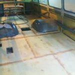 Během podzimu 2014 probíhala pokládka podlahy. 2014, Libor Had.