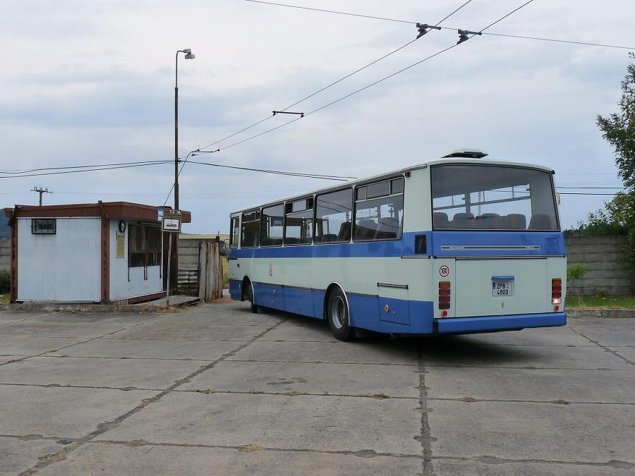 Čerstvě zrenovovaný autobus Karosa C 734 pózuje v areálu Muzea dopravy. 24.7.2013, Michal Kouba.